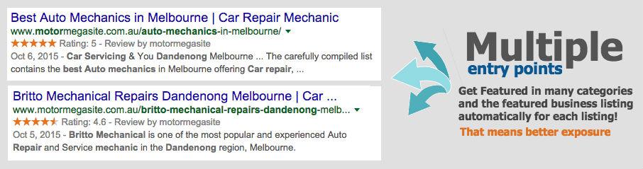 auto mechanics directory listing example